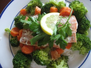Salmon and Veg Dinner