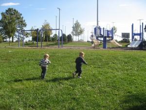 Running to the Playground