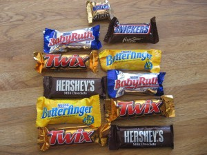 Halloween Candy Bars