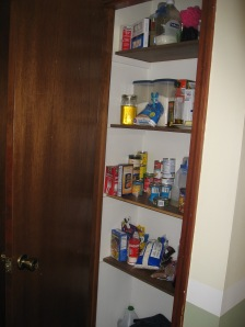 Shallow Pantry Before